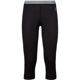 Odlo SUW Natural 100% Merino Warm Pantaloni a 3/4 Donna, black